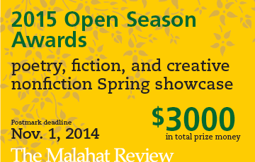 Malahat Review 2015 writing contests
