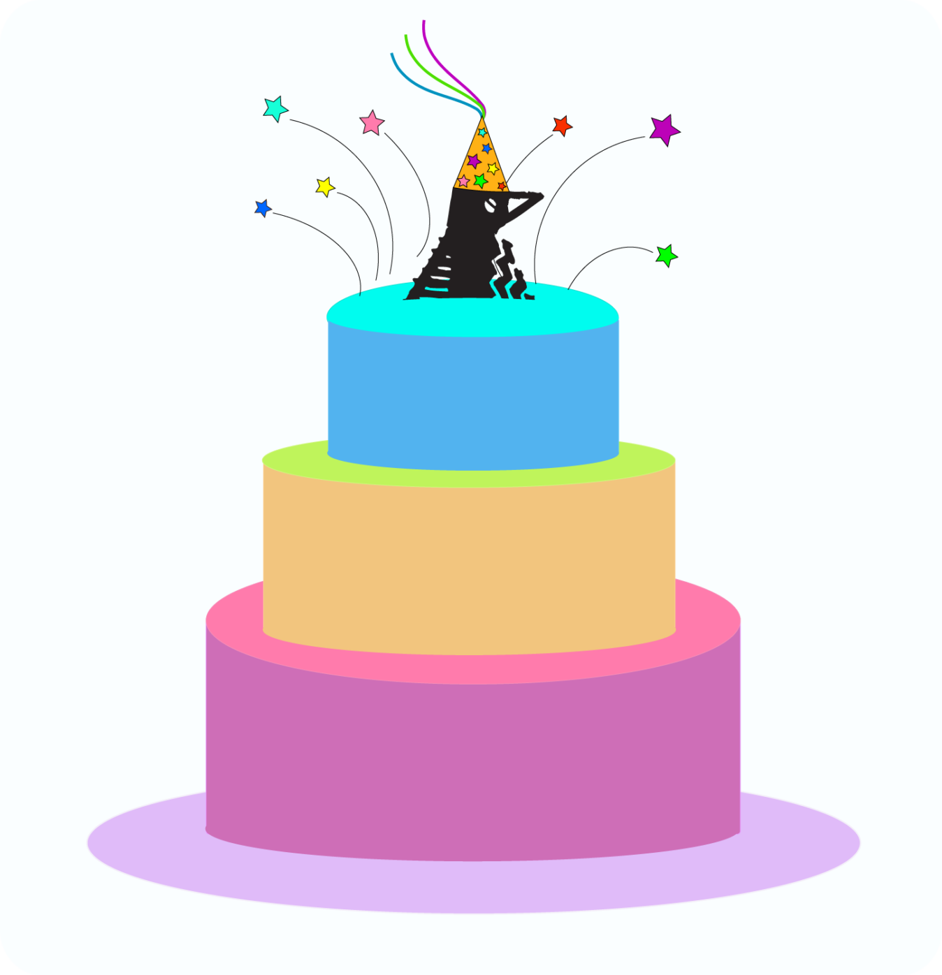 Cake Party Bird